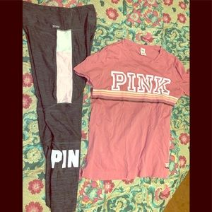 Large cute Victoria's Secret Pink workout set